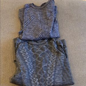 2 lululemon swiftly long sleeve shirts. Sz. 6